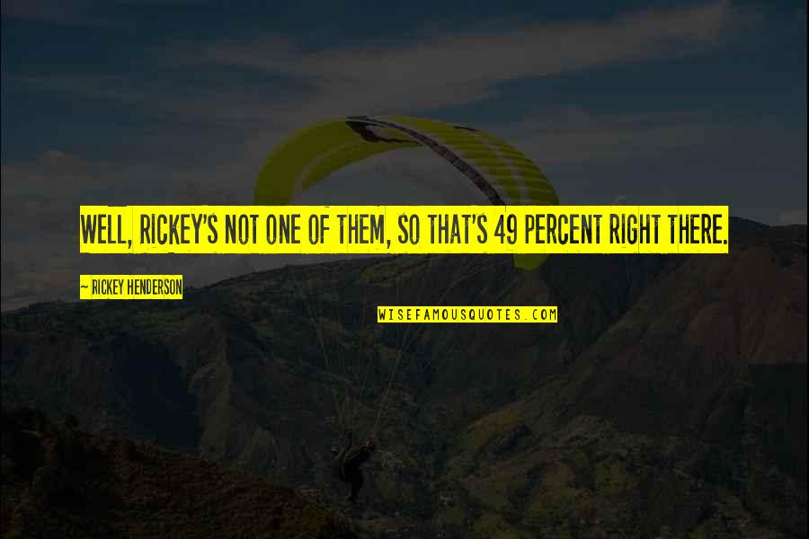 Rickey Quotes By Rickey Henderson: Well, Rickey's not one of them, so that's
