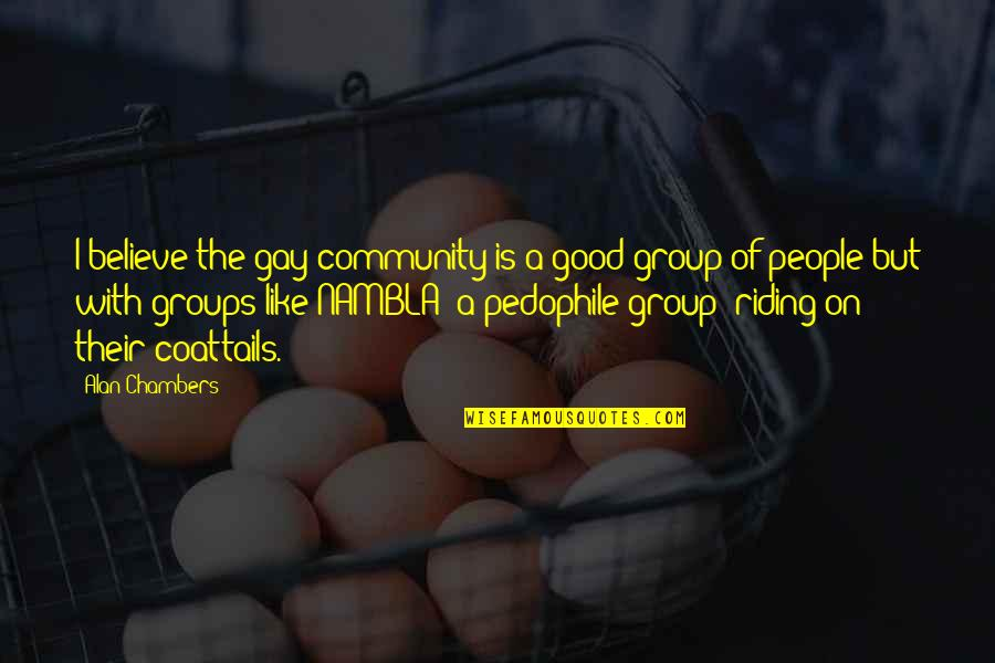 Riding Coattails Quotes By Alan Chambers: I believe the gay community is a good