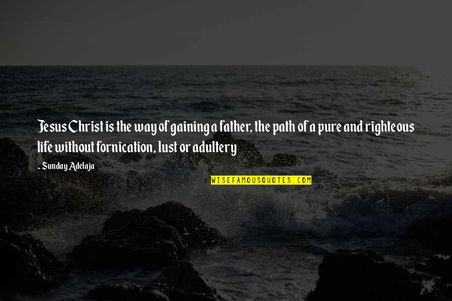 Righteous Path Quotes By Sunday Adelaja: Jesus Christ is the way of gaining a
