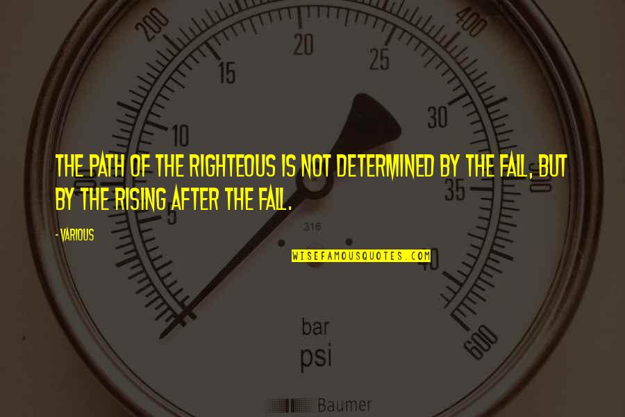 Righteous Path Quotes By Various: The path of the righteous is not determined