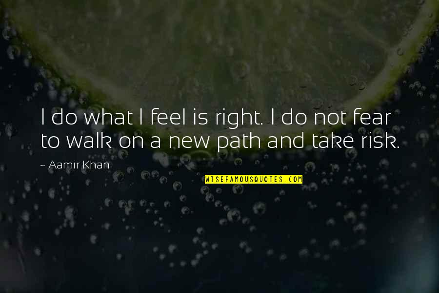 Risk Fear Quotes By Aamir Khan: I do what I feel is right. I