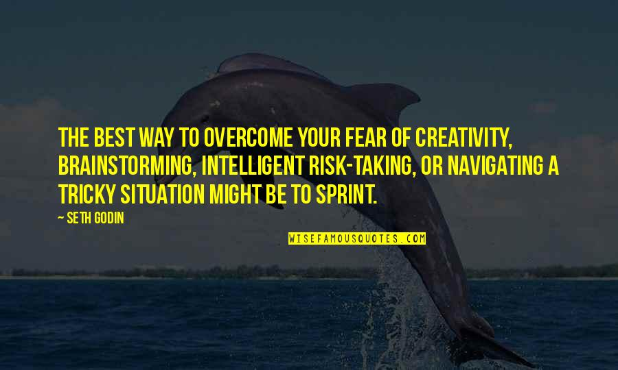 Risk Fear Quotes By Seth Godin: The best way to overcome your fear of