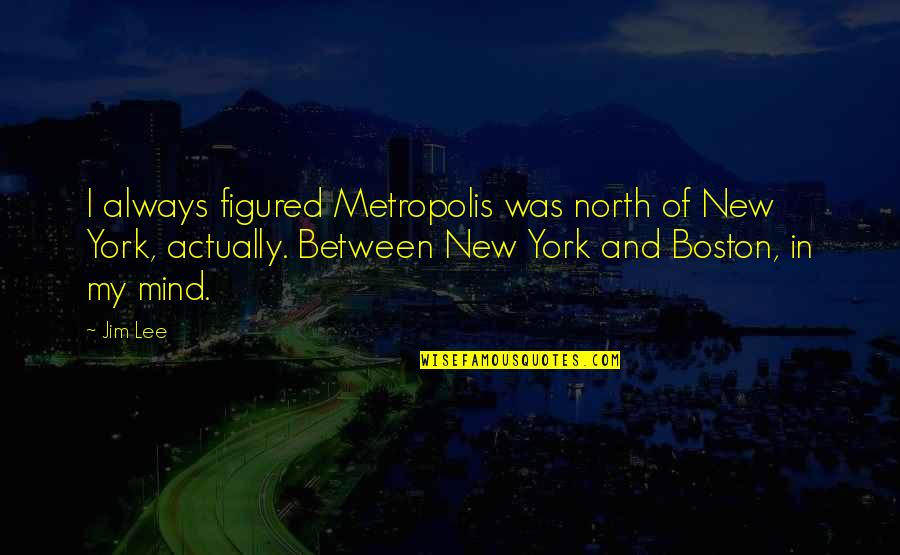 Rizzoli & Isles Funny Quotes By Jim Lee: I always figured Metropolis was north of New