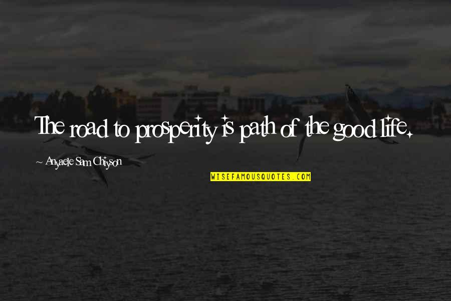 Road Path Life Quotes By Anyaele Sam Chiyson: The road to prosperity is path of the