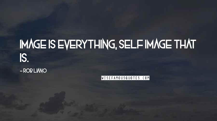 Rob Liano quotes: Image is everything, self image that is.