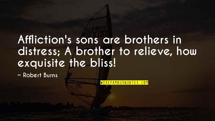 Robert Burns Quotes By Robert Burns: Affliction's sons are brothers in distress; A brother