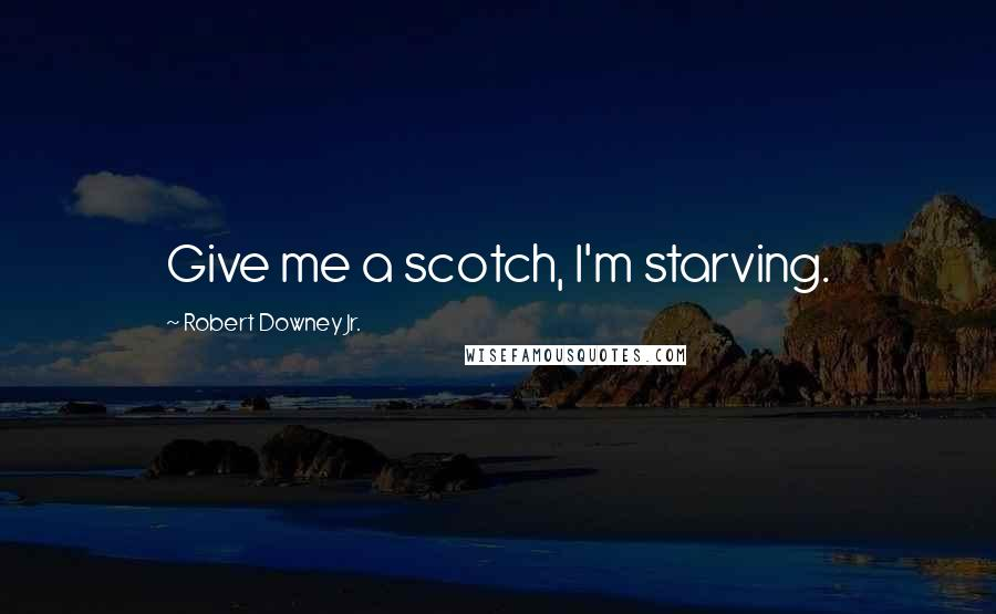 Robert Downey Jr. quotes: Give me a scotch, I'm starving.