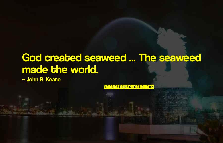 Robert Frank Quotes By John B. Keane: God created seaweed ... The seaweed made the