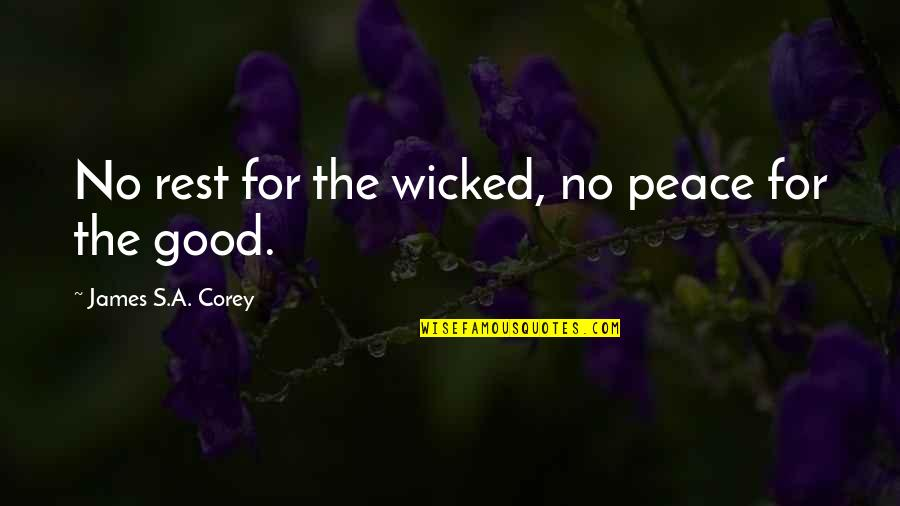 Robert G. Letourneau Quotes By James S.A. Corey: No rest for the wicked, no peace for
