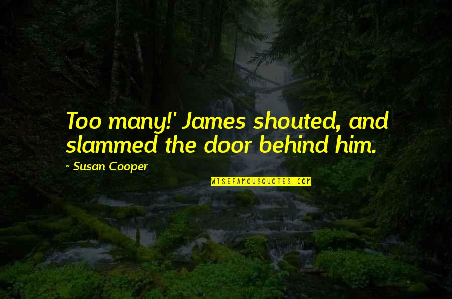 Robert Krulwich Quotes By Susan Cooper: Too many!' James shouted, and slammed the door