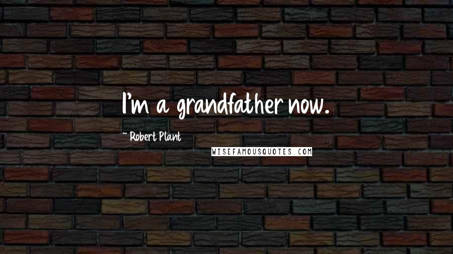 Robert Plant quotes: I'm a grandfather now.