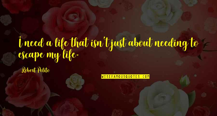 Robert Polito Quotes By Robert Polito: I need a life that isn't just about