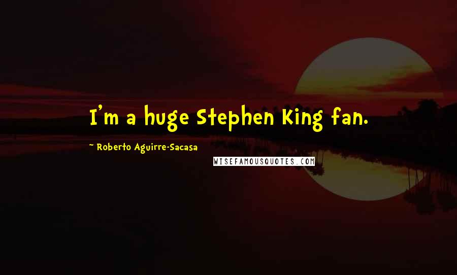 Roberto Aguirre-Sacasa quotes: I'm a huge Stephen King fan.