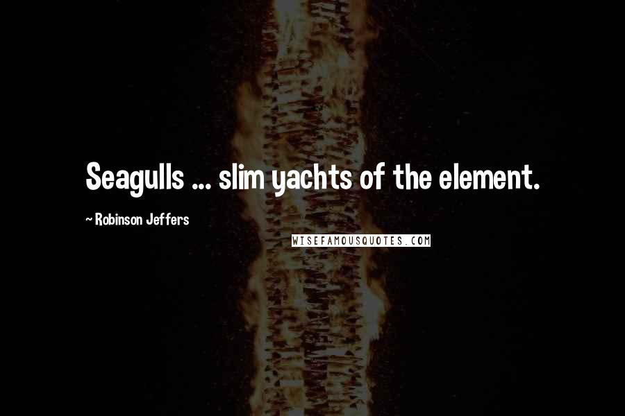 Robinson Jeffers quotes: Seagulls ... slim yachts of the element.