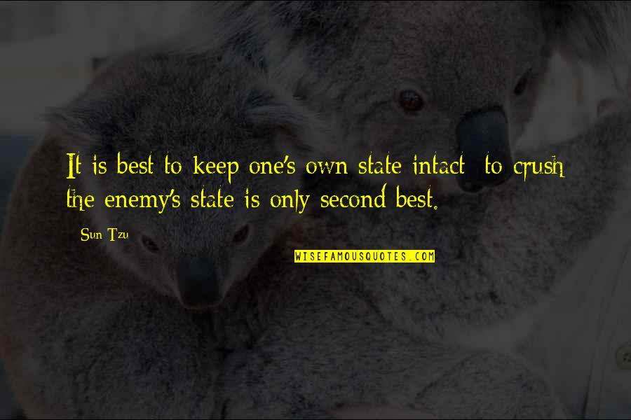 Robowar Quotes By Sun Tzu: It is best to keep one's own state