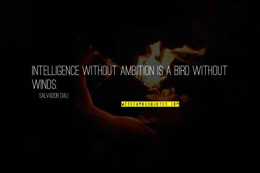 Roger Creager Quotes By Salvador Dali: Intelligence without ambition is a bird without winds.