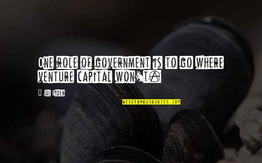 Role Of Government Quotes By Joe Biden: One role of government is to go where