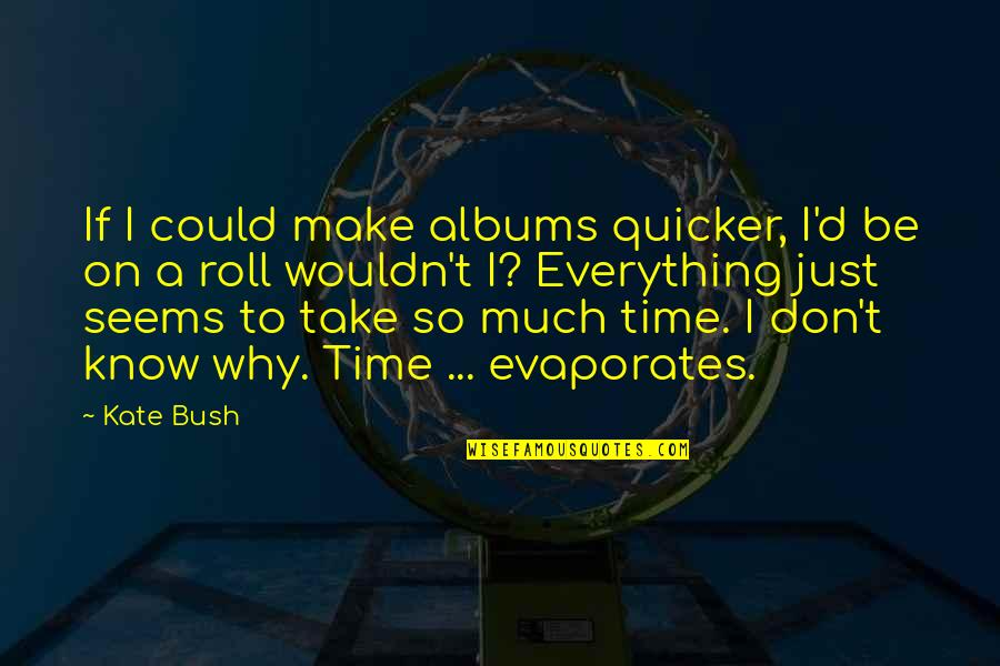 Roll On Quotes By Kate Bush: If I could make albums quicker, I'd be