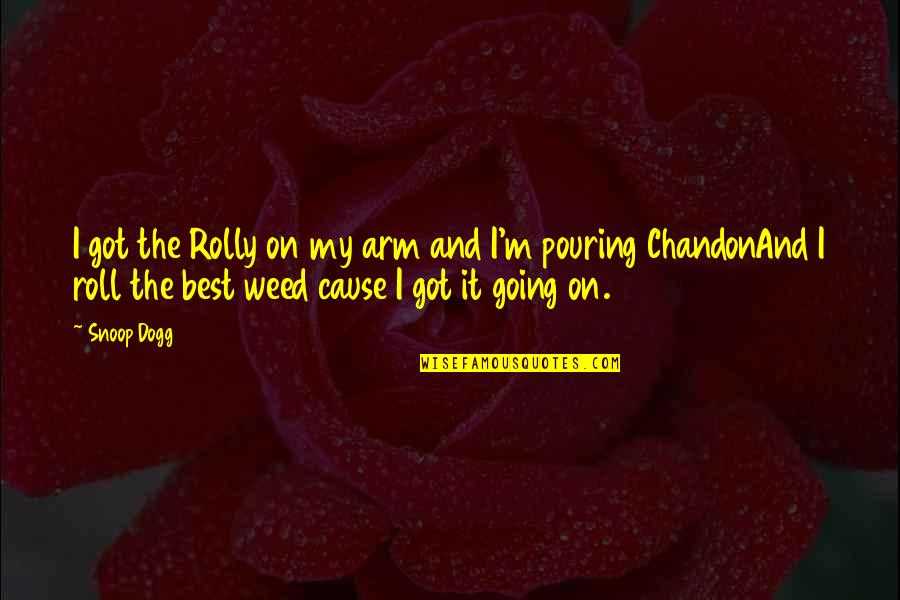 Roll On Quotes By Snoop Dogg: I got the Rolly on my arm and