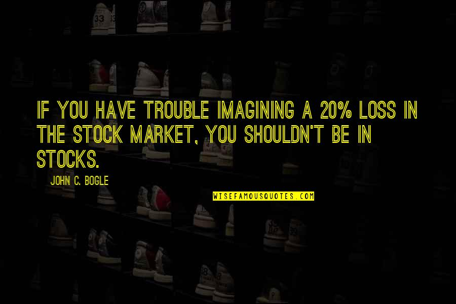 Romansthought Quotes By John C. Bogle: If you have trouble imagining a 20% loss