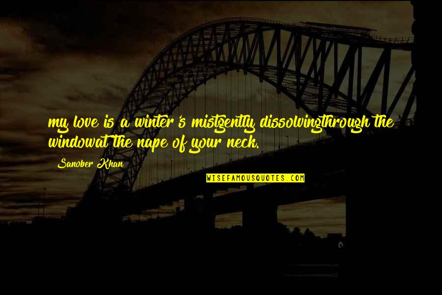 Romantic Poetry And Quotes By Sanober Khan: my love is a winter's mistgently dissolvingthrough the