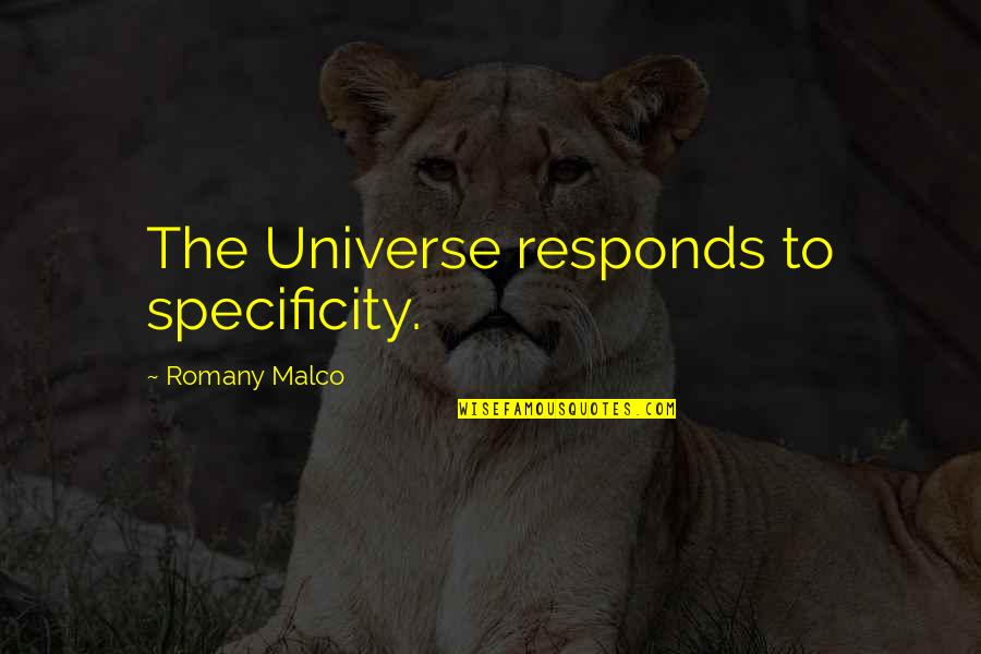Romany Malco Quotes By Romany Malco: The Universe responds to specificity.