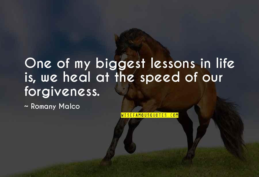 Romany Malco Quotes By Romany Malco: One of my biggest lessons in life is,