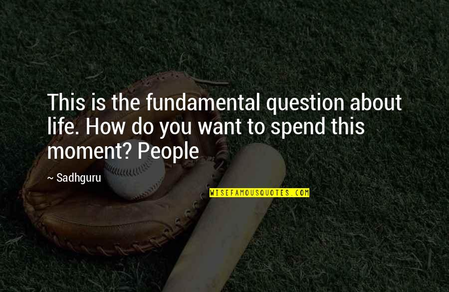 Romany Malco Quotes By Sadhguru: This is the fundamental question about life. How