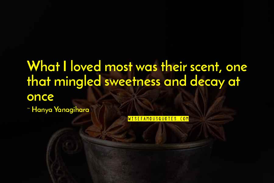 Romeo Castellucci Quotes By Hanya Yanagihara: What I loved most was their scent, one