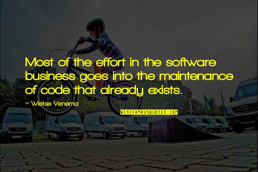 Romeo Castellucci Quotes By Wietse Venema: Most of the effort in the software business
