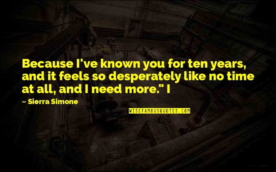 Romo's Quotes By Sierra Simone: Because I've known you for ten years, and