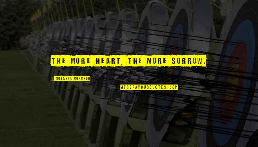 Romo's Quotes By Suzanne Curchod: The more heart, the more sorrow.