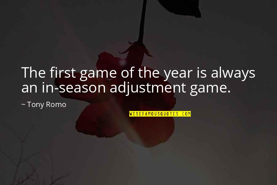 Romo's Quotes By Tony Romo: The first game of the year is always
