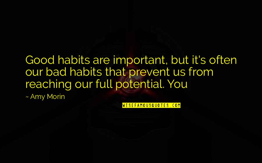 Romuald Hazoume Quotes By Amy Morin: Good habits are important, but it's often our