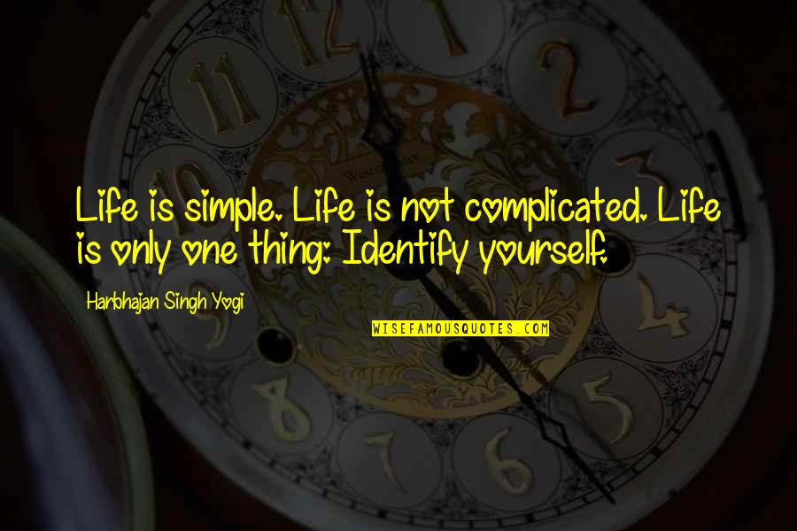 Romuald Hazoume Quotes By Harbhajan Singh Yogi: Life is simple. Life is not complicated. Life