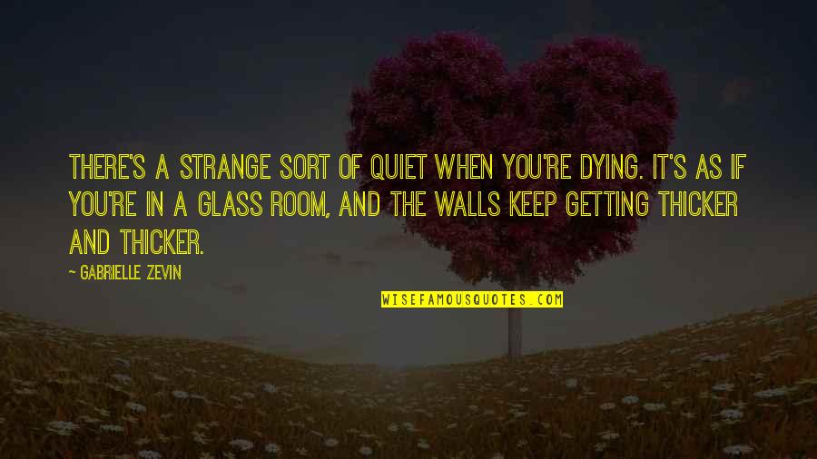 Room Wall Quotes By Gabrielle Zevin: There's a strange sort of quiet when you're