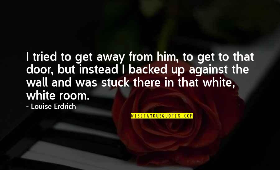 Room Wall Quotes By Louise Erdrich: I tried to get away from him, to