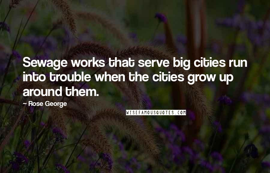 Rose George quotes: Sewage works that serve big cities run into trouble when the cities grow up around them.