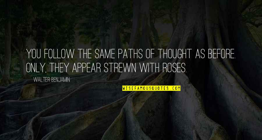 Rose With Quotes By Walter Benjamin: You follow the same paths of thought as