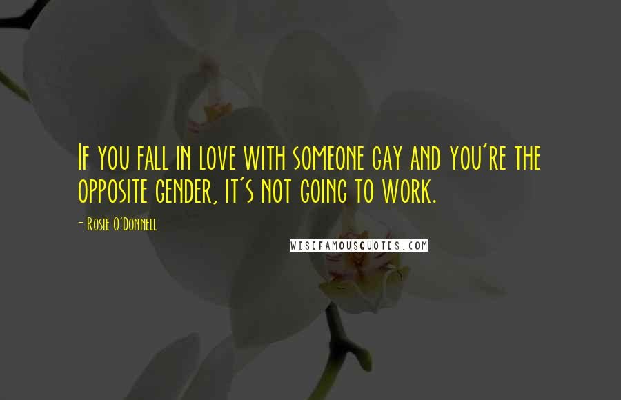 Rosie O'Donnell quotes: If you fall in love with someone gay and you're the opposite gender, it's not going to work.
