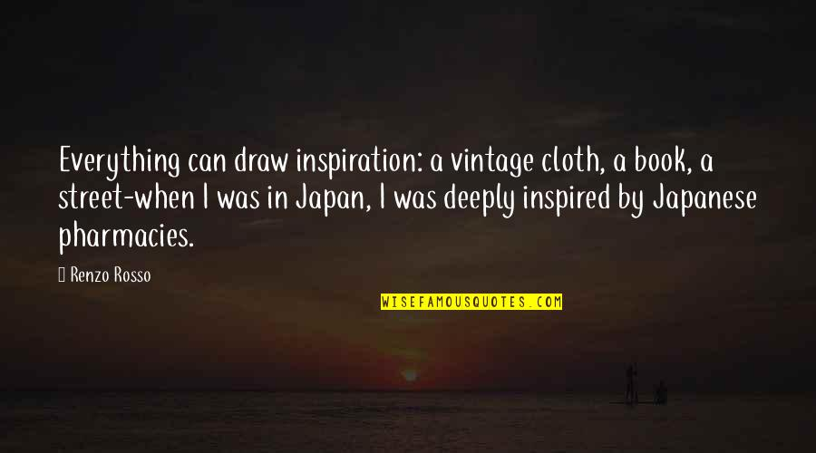 Rosso Quotes By Renzo Rosso: Everything can draw inspiration: a vintage cloth, a
