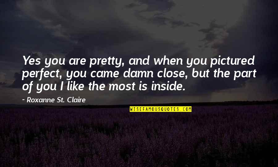 Roxanne Quotes By Roxanne St. Claire: Yes you are pretty, and when you pictured