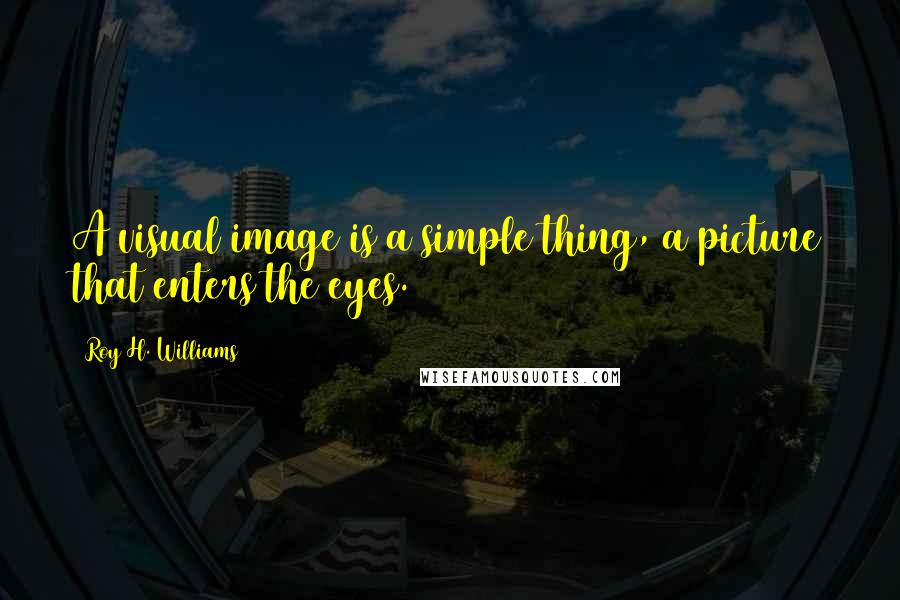 Roy H. Williams quotes: A visual image is a simple thing, a picture that enters the eyes.