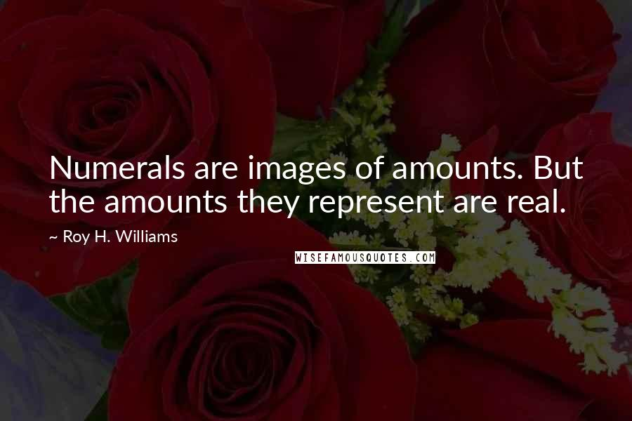 Roy H. Williams quotes: Numerals are images of amounts. But the amounts they represent are real.