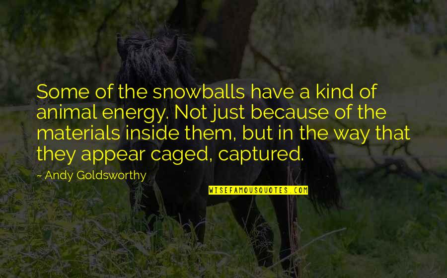 Royals Mlb Quotes By Andy Goldsworthy: Some of the snowballs have a kind of