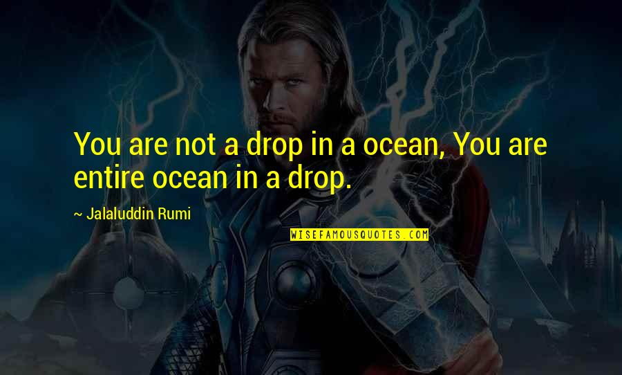 Rumi Quotes By Jalaluddin Rumi: You are not a drop in a ocean,