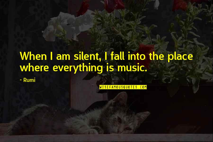 Rumi Quotes By Rumi: When I am silent, I fall into the