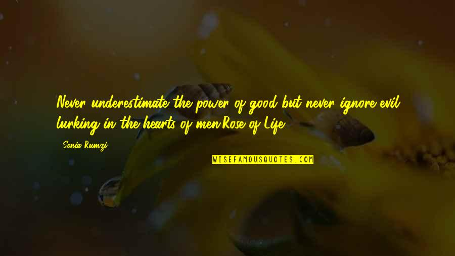 Rumzi Quotes By Sonia Rumzi: Never underestimate the power of good but never