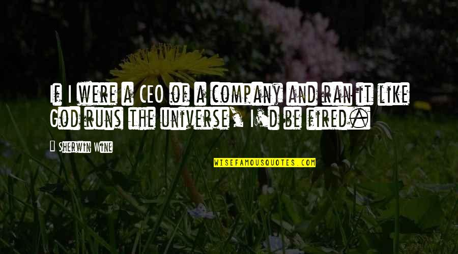 Running From God Quotes By Sherwin Wine: If I were a CEO of a company