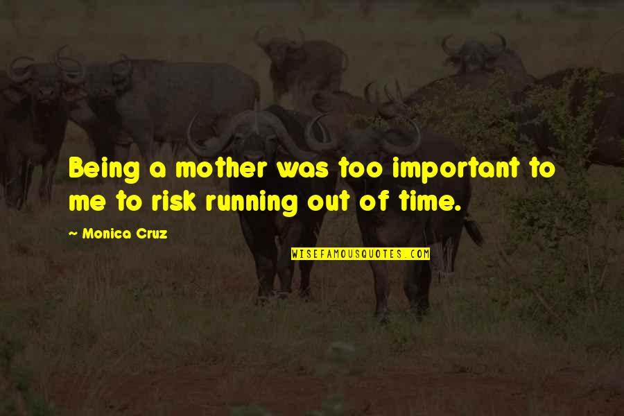 Running Out Of Time Quotes By Monica Cruz: Being a mother was too important to me